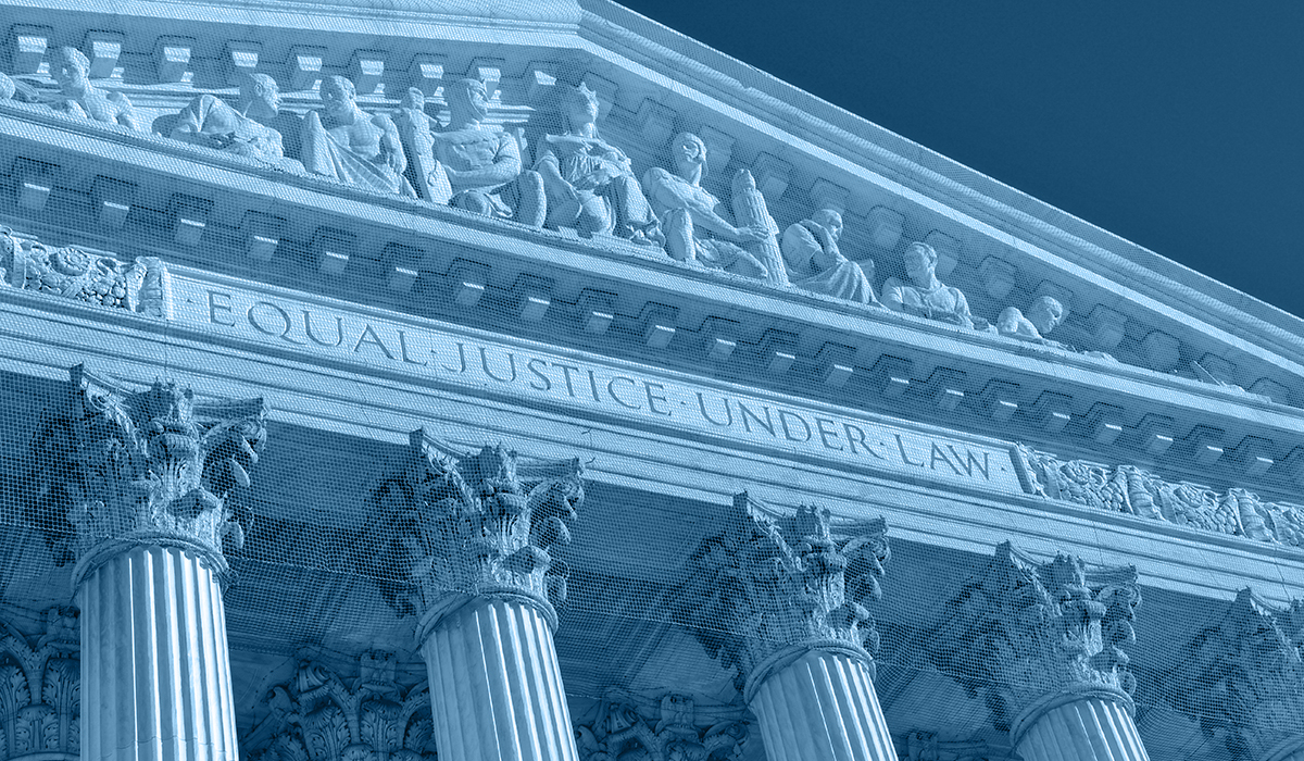 Image of the facade of the US Supreme Court